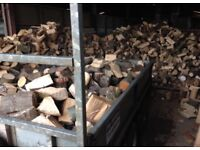 Seasoned hardwood logs firewood trailerfull