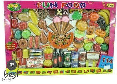 Best For Kids 114tlg LEBENSMITTELSET Spielset für Spielküche Zubehör