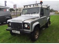 Land Rover defender 110 2.4tdci puma 6 speed 08plate county pack high spec