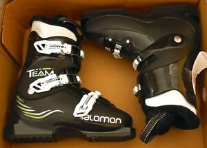 New, Never Used Salomon 130cm skis/bindings & size 23.0 boots London Ontario image 3