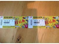V fest tickets @ Weston park Telford