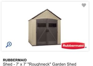 7x7 Rubbermaid Shed