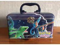 Collectors Pokemon EX Tin chest *EMPTY*
