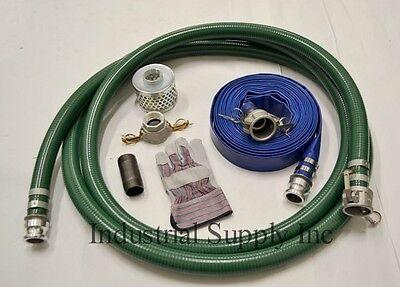 3 Green Pvc Mud Suction Hose Trash Camlock Kit W100 Discharge Hose Fs