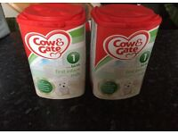 2 tubs cow and gate 1st infant milk