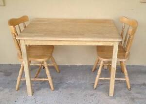Wooden Table & Chairs Croydon Burwood Area Preview