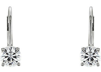2 carat Round cut Diamond Studs, GIA report F Color SI2 Platinum Earrings 5