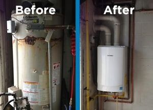 ON DEMAND HOT WATER - TANKLESS INSTALLATIONS - LOW PRICES**