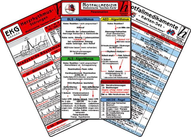 Notfallmedizin Karten-Set (5 Karten-Set)