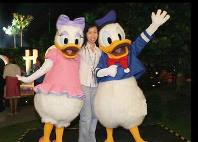 2018 Donald Duck And Daisy Duck Mascot Costume Suits Cosplay Birthday Dress - Donald Duck And Daisy Costumes