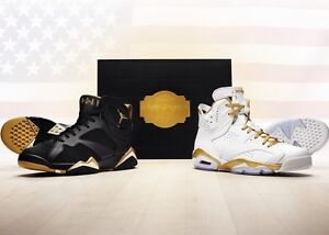 Nike Air Jordan Golden Moments Retro VI And VII Limited Edition Olympic Pack XI