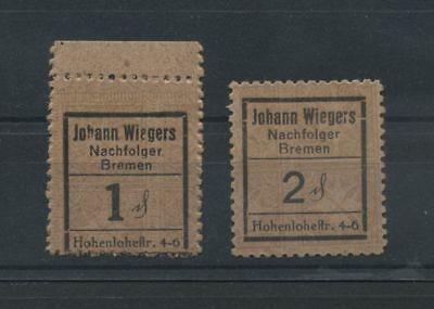 Bremen  -  Johann Wiegers   -  1 + 2 Pfennig