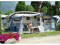 4 birth Caravan located at lake Garda Italy