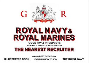 Royal-Navy-Royal-Marines-recruitment-enamelled-steel-sign-dp
