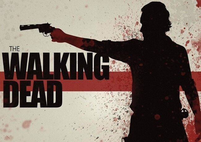 The Walking Dead Silohuette POSTER