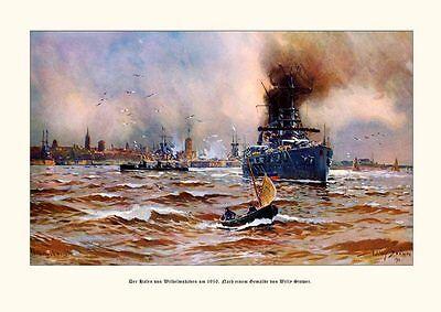 Deutsches Reich Wilhelmshaven Hafen Gemälde v. Stöwer 9