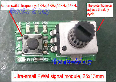 Dc5v Mini Pwm Signal Source Module Motor Speed Control Pwm Dimming Driver Module