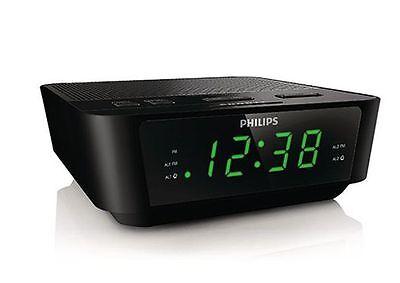 Philips AJ3116M Digital Tuning Dual Alarm Clock FM Digital Tuning Radio