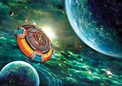 ELO Colourful Spaceship Poster