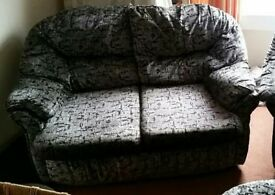 2 x 2 seater sofa plus foot stool