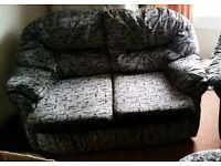 2 x 2 seater sofa plus foot stool