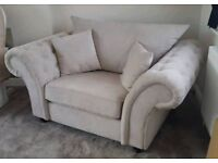 Luxury Chesterfield Velour Sofa - As New