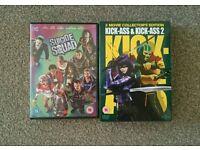 Suicide squad & Kick Ass 1&2. Dvd