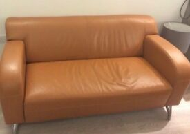 Beautiful Leather Sofa and Armchair