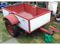 4x3 all metal car trailer 12 inch wheels