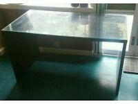 Black desk with removable glass top