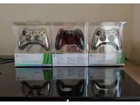 Xbox 360 Controllers Special edition Chrome, brand new + sealed
