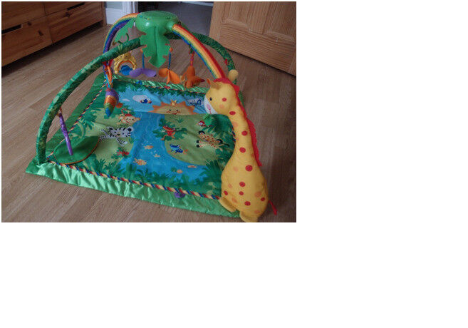 Fisher Price Rainforest Deluxe Gym.