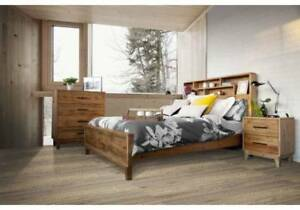 Bathurst Timber Bookshelf Bed Frame