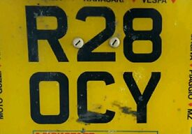 Private registration number plate rocky
