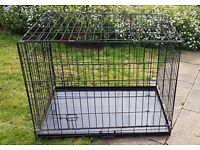 Dog crate - large - foldable 92w x 62d x 72h