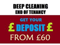 Short Notice End of Tenancy clean / move out or in clean/ carpet wash - low price