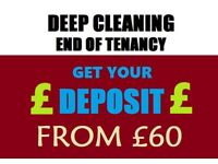 Professional End Of Tenancy cleaning - Free Carpet Shampoo wash - Move in or Out Cleaning
