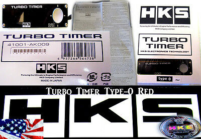 NEW HKS UNIVERSAL TURBO TIMER BLACK TYPE-0 ZERO RED LCD Fit For The