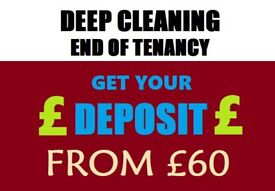 Professional End of Tenancy Cleaning - Regular Domestic Cleaning - Carpet Deep Wash