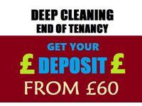 Deep Clean - End of Tenancy clean - Regular Domestic Clean - Carpet wash