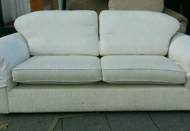 Kendal cream fabric sofa set