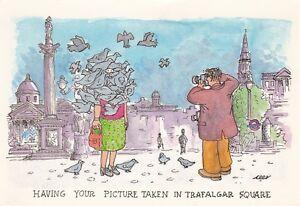 J Arthur Dixon Having your picture taken in Trafalgar Square Postcard used vgc