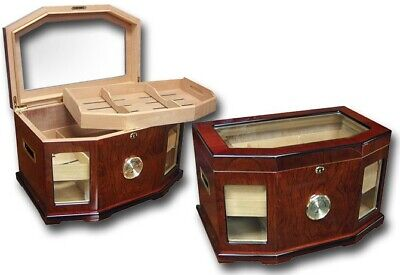 Prestige Import Group THE Chancellor Glass Top Humidor