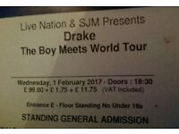 Standing Drake tickets O2 1st February