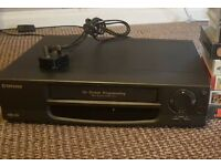 Tatung vhs player with 8 videos