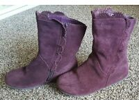 Girls marks and spenders boots size 10
