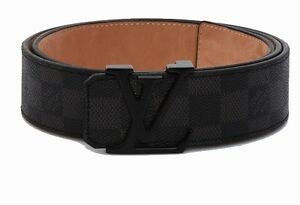 Brand New Louis Vuitton Belt Damier Black Real Leather