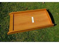 Wooden cot top changer