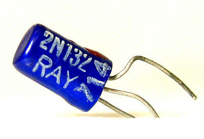 Raytheon Blue 2n132 Ck725 Germanium Pnp Transistor Fuzz Pedal Effects 1957 Rare