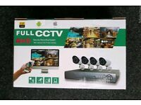 Brand new 4 CHANNEL CCTV kit 1 TB hard drive. 1080p AHD. MOBILE VIEWING.